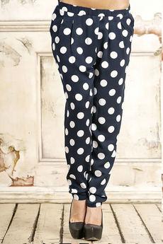 Черные брюки в горошек Amarti