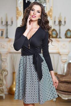 Платье с запахом с поясом Angela Ricci со скидкой