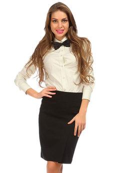 Черная офисная юбка Mondigo