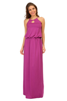 Лиловое длинное платье Mondigo