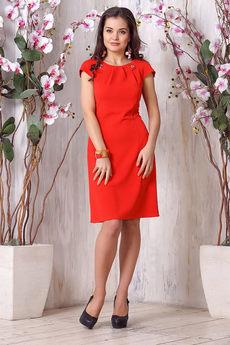 Красное платье без рукавов Liora