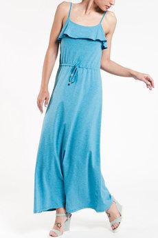 Летнее платье на бретельках с поясом кулиска TOM FARR