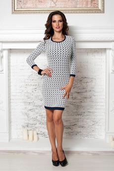 Платье с узором ромбы Angela Ricci со скидкой