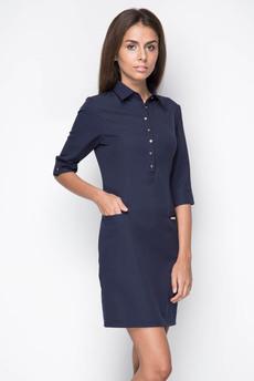 ХИТ продаж: синее офисное платье Marimay