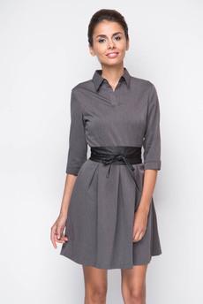 Строгое платье с поясом-кушаком Marimay