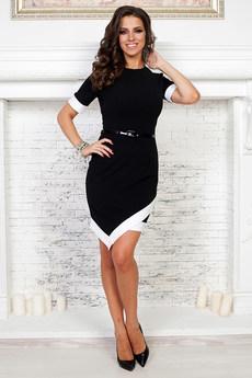 ХИТ продаж: черное платье с белой полосой Angela Ricci
