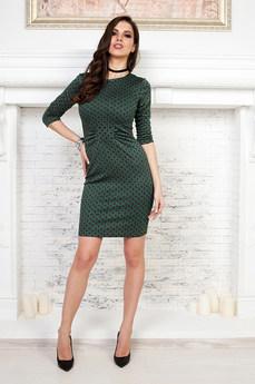 Платье футляр зеленого цвета Angela Ricci