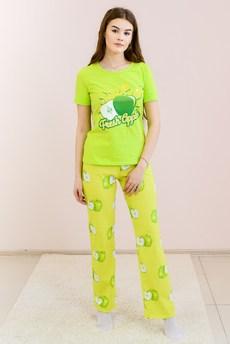 Комплект домашний Яблоки: футболка и брюки FIORITA