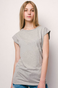 Удлиненная футболка из хлопка KLERY
