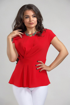 Приталенная блузка с драпировками Liora