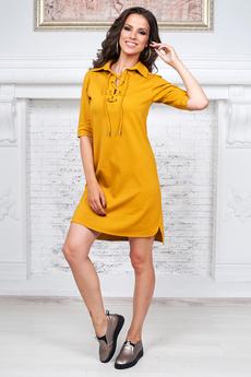 Платье горчичного цвета Angela Ricci со скидкой