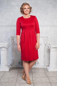 Платье с отрезным низом со складками Angela Ricci