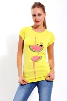 Желтая футболка F5