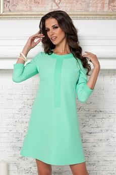 Платье ментолового цвета Angela Ricci со скидкой