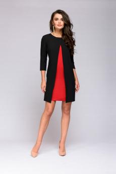 Новинка: черное платье с красной вставкой 1001 DRESS