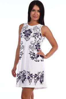 Новинка: Летнее белое платье из хлопка  Натали