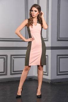 Новинка: Платье футляр с V-образным вырезом горловины Mondigo