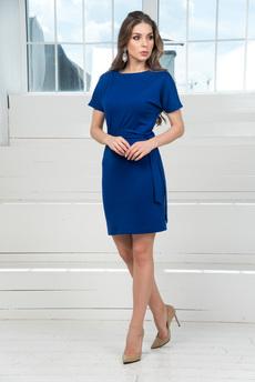 Новинка: Повседневное платье с поясом и короткими рукавами Mondigo