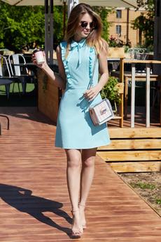 Голубое платье без рукавов Mollis