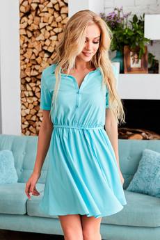 Голубое платье рубашка