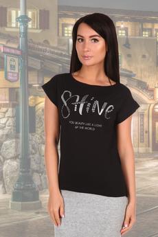 Новинка: черная женская футболка с надписями Натали