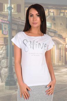 Белая женские футболки с надписями Натали