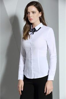 Белая рубашка с брошью Marimay