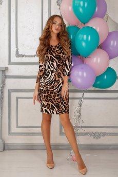 Трикотажное леопардовое платье Open-Style
