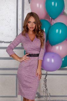 Трикотажное платье с v-образным вырезом Open-Style