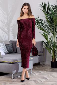 Новинка: бордовое вечернее платье RUXARA
