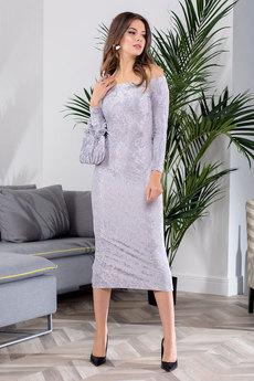 Новинка: серебристое вечернее платье RUXARA