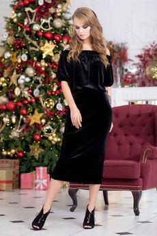 Новинка: черное бархатное платье RUXARA