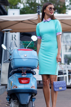 Новинка: платье ментолового цвета RUXARA