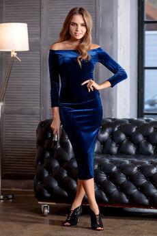 Новинка: синее бархатное платье RUXARA