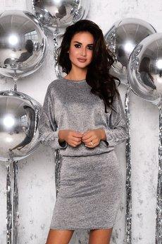 Новинка: серо-серебристое платье Open-Style