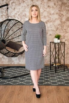 Новинка: платье из ткани гусиные лапки Шарлиз