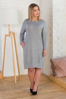 Новинка: серое платье с карманами Шарлиз