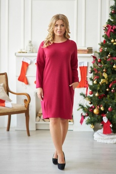 Новинка: красное платье с карманами Шарлиз