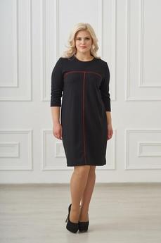 Новинка: черное платье с красной полосой Шарлиз