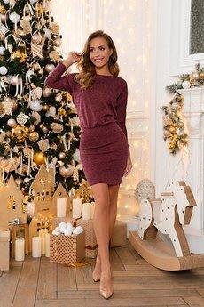 Новинка: теплое бордовое платье Open-Style