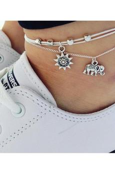 Новинка: набор браслетов на ногу (2 шт.) Kokette