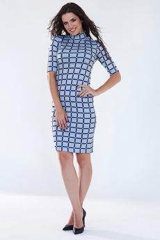 Серое платье водолазка Angela Ricci