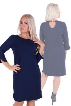 Синее повседневное платье Трикотажница