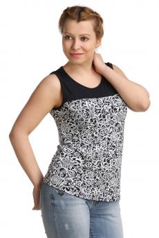 Блузка с черно-белым узором ElenaTex