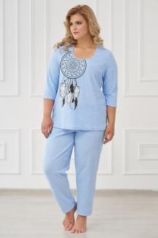 Пижама 0661 голубой Шарлиз