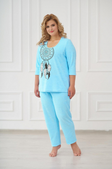 Пижама 0661  бирюза Шарлиз