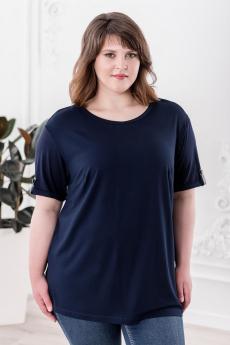 Темно-синяя футболка Шарлиз