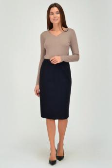 Темно-синяя трикотажная юбка Viserdi со скидкой