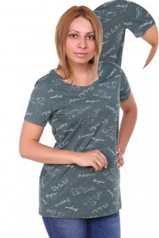 Темно-зеленая футболка ElenaTex