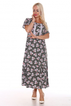Длинное хлопковое платье Вилана со скидкой